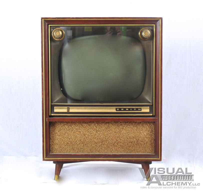 1958 20 Zenith A2251r Wood Console 2638 Visual Alchemy